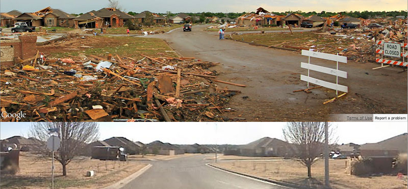Before and After: 360° Views From Moore, Okla.