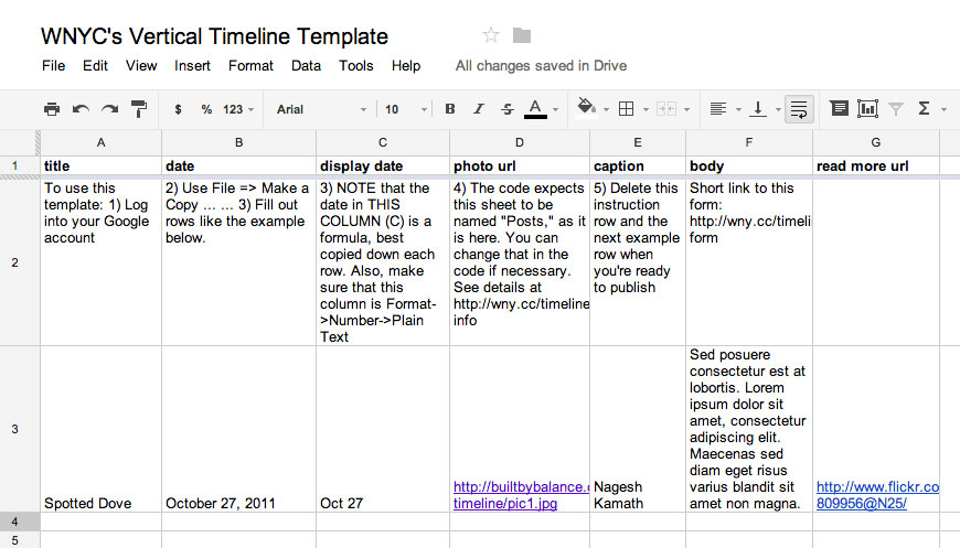 Making timelines for Legal chronology template